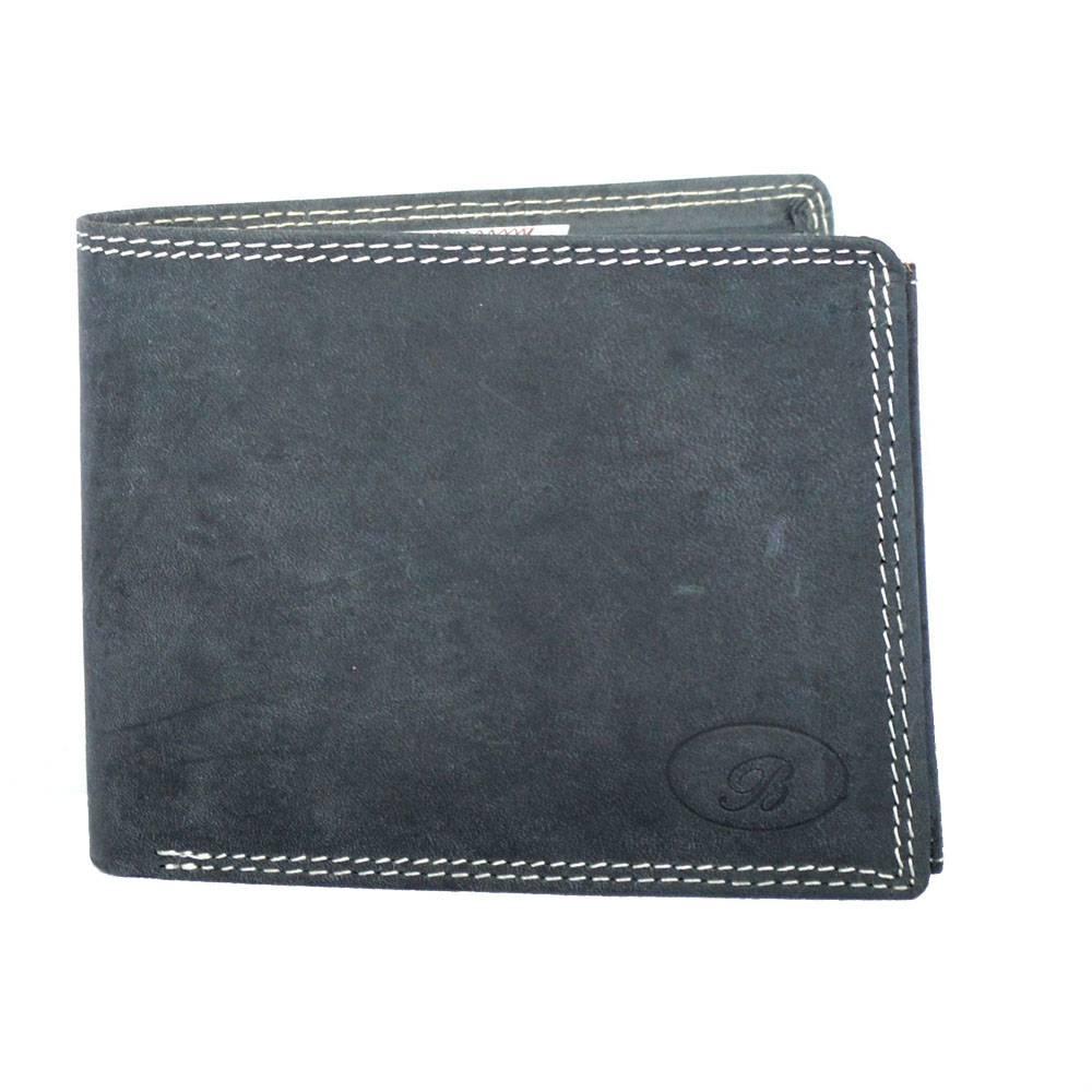Portemonnee Heren Zwart.Handgemaakte Heren Portemonnee Buffelleer Zwart Classic 706