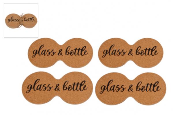 glass bottle onderzetter